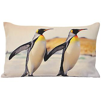 Riva Home Animal Penguins Cushion Cover