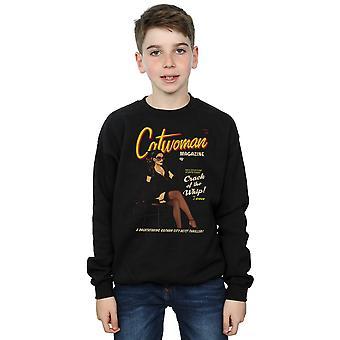 DC Comics Boys Catwoman Bombshell Cover Sweatshirt