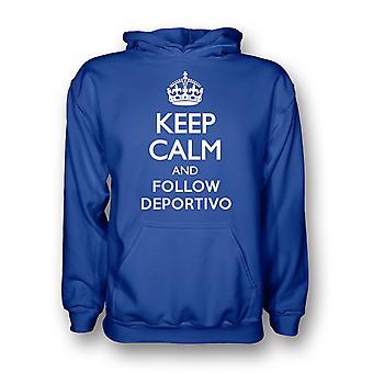 Holde ro og følge Deportivo Hoody (blå)