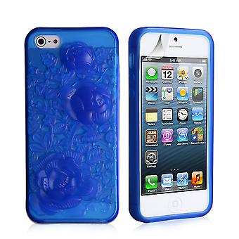 Yousave Accessories iPhone SE Gel Rose Case - Blue
