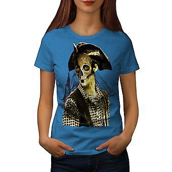 Pirate Metal Death Women Royal BlueT-shirt | Wellcoda