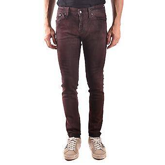 Meltin'pot men's MCBI340097O Bordeaux cotton of jeans