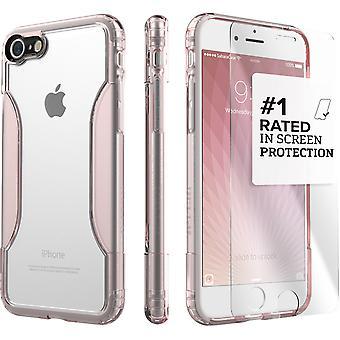 SaharaCase iPhone 8 y 7 caso claro oro rosa, clásico paquete Kit de protección con vidrio templado de ZeroDamage®