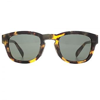 Alexander McQueen Edge Keyhole Square Sunglasses In Light Havana