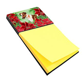 Carolines Treasures  CK1296SN Smooth Fox Terrier Poinsettas Sticky Note Holder