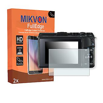 Canon EOS M3 screen protector - Mikvon FullEdge (screen protector with full protection and custom fit for the curved display)