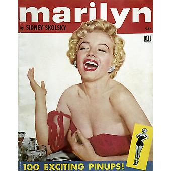 Marilyn Monroe (1926-1962) Namerican Cinema Actress Marilyn 100 Pinup Photographs Of Marilyn Monroe Selected By Sydney Skolsky C1954 Poster Print by Granger Collection