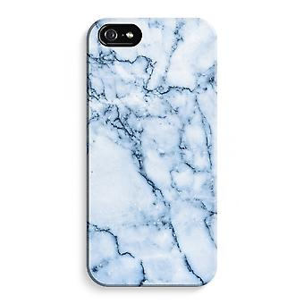 iPhone 5C Full Print Case (Glossy) - Blue marble