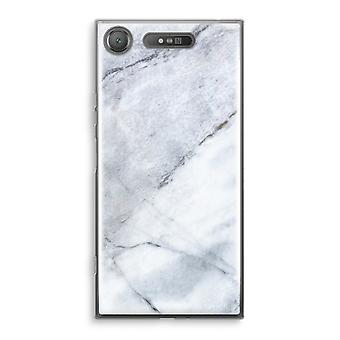 Sony Xperia XZ1 Transparant Case - Marble white
