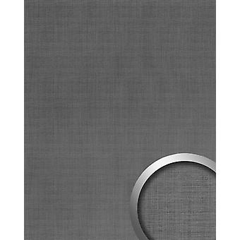 Wall Panel metal optics WallFace 20204 refined metal titanium AR wall cladding in brushed metal finish and with metallic accents adhesive abrasion resistant grey grey-aluminium 2.6 m2