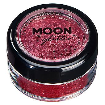 Fine Glitter Shakers by Moon Glitter – 100% Cosmetic Glitter for Face, Body, Nails, Hair and Lips - 5g - Red