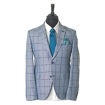 Gibson London Double Breasted Windowpane Check Jacket