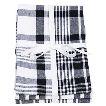 Love Colour Set of 3 Tea Towels, True Black