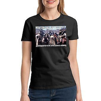 Unge kanoner ånd verden kvinders sort T-shirt
