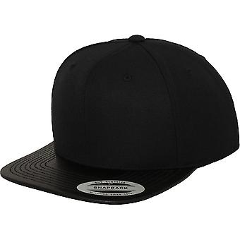 Flexfit by Yupoong Mens Classic Imitation Leather Snapback Cap
