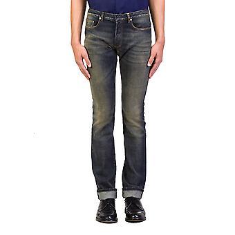 Dior Homme mäns blå Marine Slim Fit Denim Jeans byxor blå
