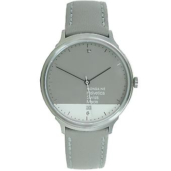 Mondaine Unisex Watch Helvetica No1 light GRAPHIC EDITION MH1. L2280. LH leather