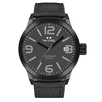 TW stål mens klocka Marc Coblen Edition TWMC52 wrist watch läderarmband