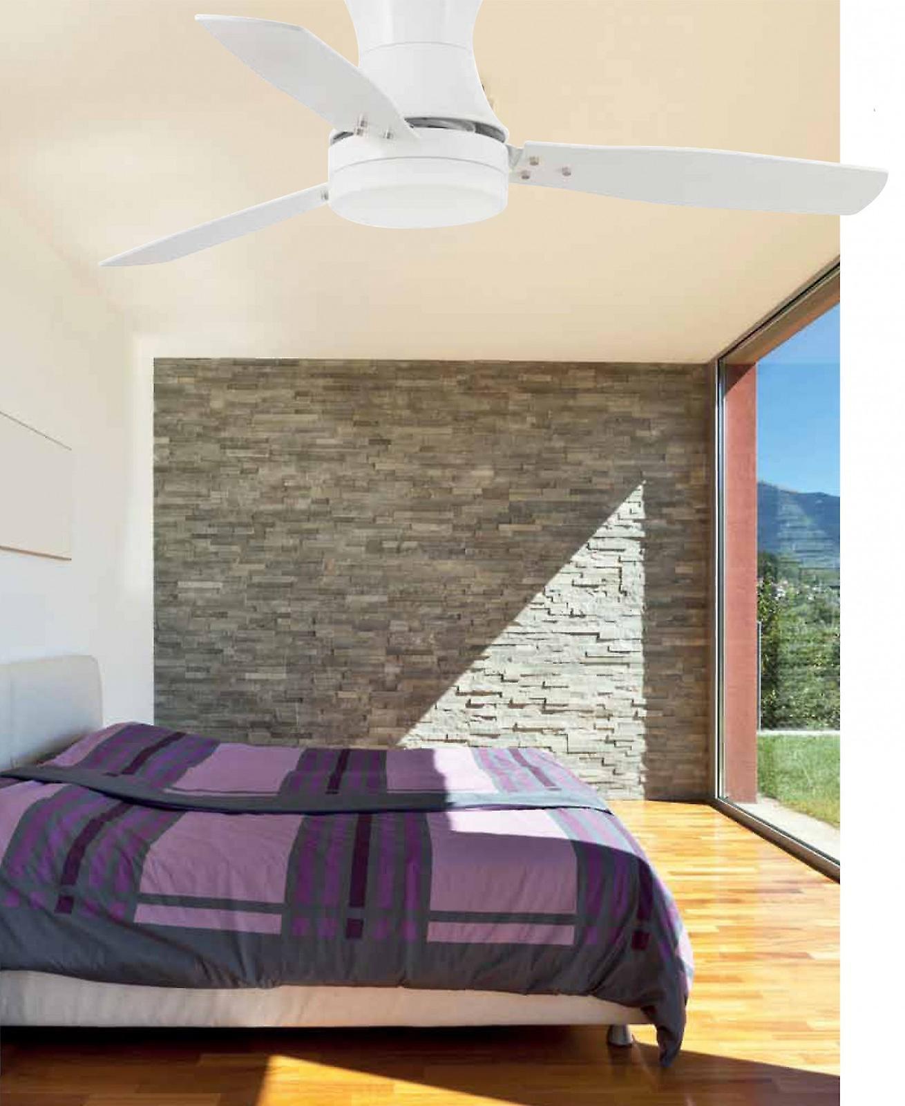 Bianco di Tonsay ventilatore soffitto con luce e telecomando