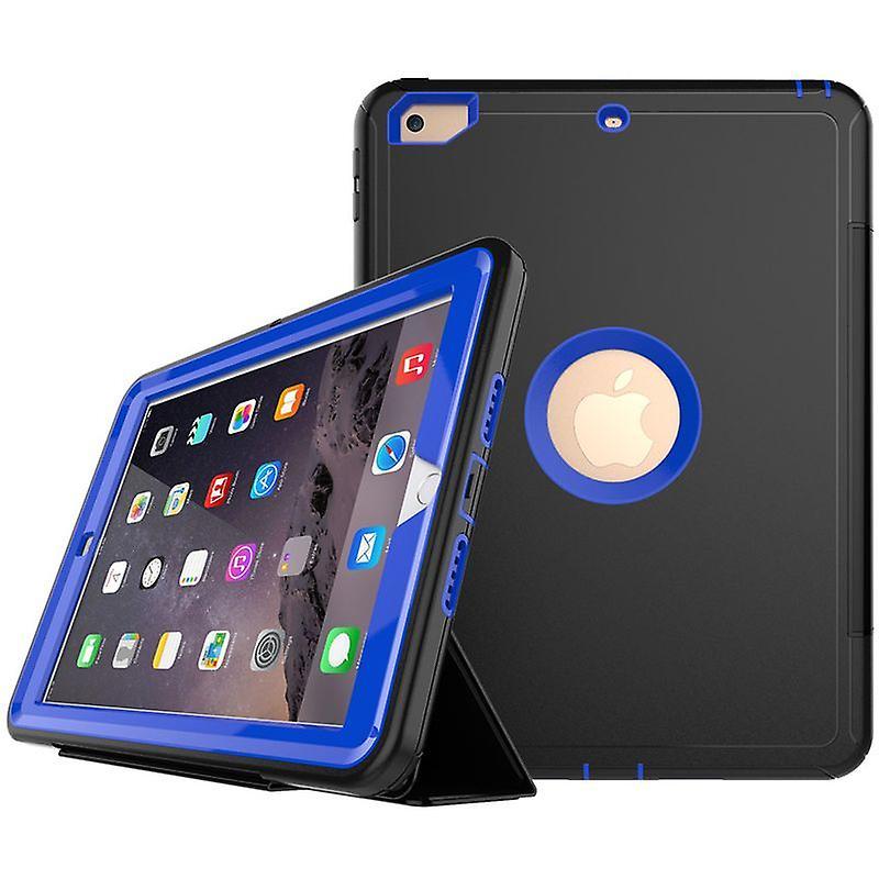 Mehrteilige Hybrid Outdoor Schutzhülle Case Grün für New Apple iPad 9.7 2017 Tasche Wake UP 3folt