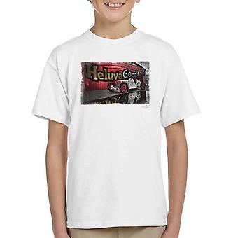 HCS Special Distressed Edge Indy Racer Kid's T-Shirt