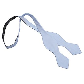 Light Blue Panama Silk Pointed Self Tie Bow Tie