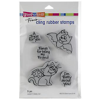 Stampendous Cling Stamp -Batty Cat