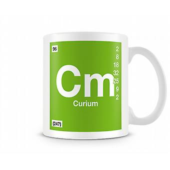 Element Symbol 095 Cm - Curium Printed Mug
