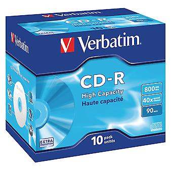 Verbatim 43428 800mb Datalife Cd-r - Jewel Cased 10 Pack