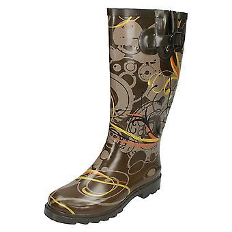 Womens Spot On Swirls Design Wellington Boots