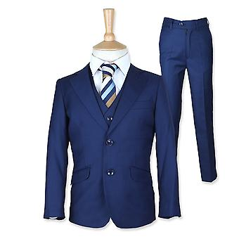 Boys Italian 3 PC French Blue Pageboy, Wedding, Dinner suit