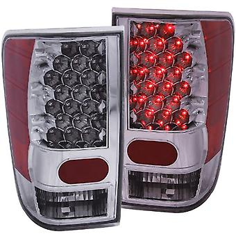Anzo USA 311038 Nissan Titan Chrome LED Tail Light Assembly - (Sold in Pairs)