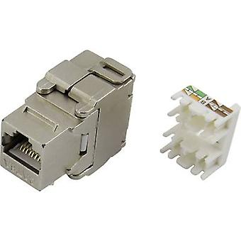 Modular socket, without the need for tools Socket, straight Number of pins: 8P8C