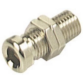 SKS Hirschmann BO 10 Jack socket Socket, vertical vertical Pin diameter: 4 mm Nickel-coated 1 pc(s)
