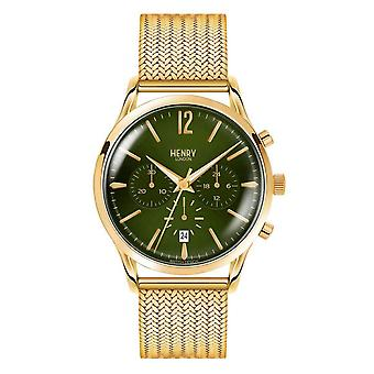 Henry London Chiswick Quartz Watch - Gold/Forest Green