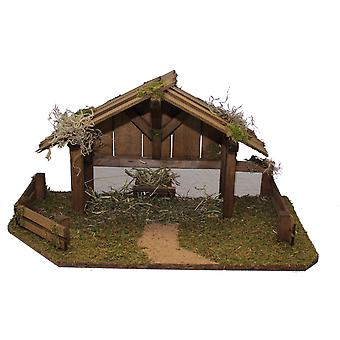 Crib Nativity scene wood Nativity stable Timothy hand work for characters up to 10 cm