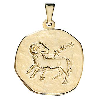 Trailer zodiac sign Aries gold of yellow gold 333, ASTRO