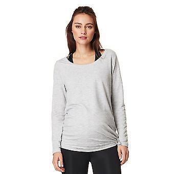 Noppies 66505-C246 Women's Heather Grey Melange Maternity Sports T-Shirt