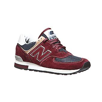 New balance mens real leather sneakers Red
