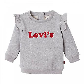 Levis Juniors Sparkle Flounce Shoulder Sweatshirt (Grey)
