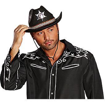 Accesorios de sombrero de vaquero negro de Texas sombrero Halloween Carnaval
