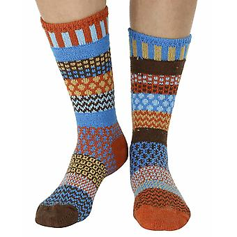 Amber Sky recycled cotton multicolour odd-socks   Crafted by Solmate