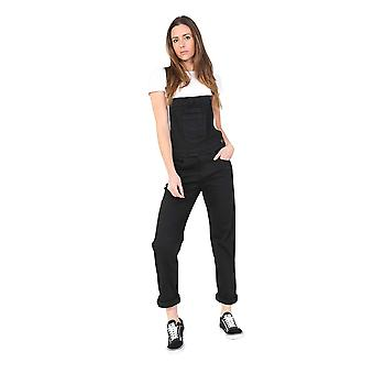 USKEES Regular Fit Black Denim Dungarees Ladies Bib-Overalls