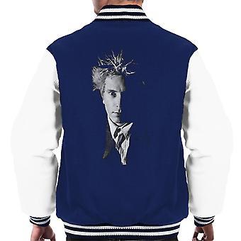 Black And White John Lydon Johnny Rotten Of Public Image Ltd Men's Varsity Jacket
