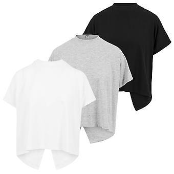 Urban classics ladies T-Shirt overlap Turtleneck tee