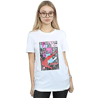 Marvel Women's Daredevil Comic Panels Boyfriend Fit T-Shirt