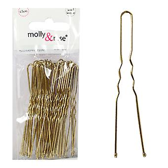 Molly & Rose Gold Waved Hair Pins 36 Pack