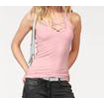 melrose locker fallendes Damen Neckholder-Top Rosa