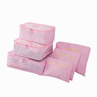 Organiseringsset for travel bags-Pink