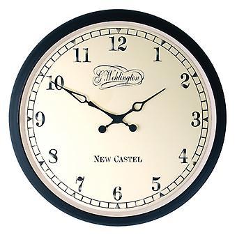 NEXTIME NE-2655 Wand Uhr ø 35 Cm, Metall, schwarz, Aaltje